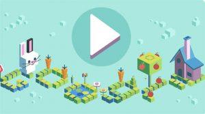 Google Doodle white rabbit game kids coding 50 years 1149742