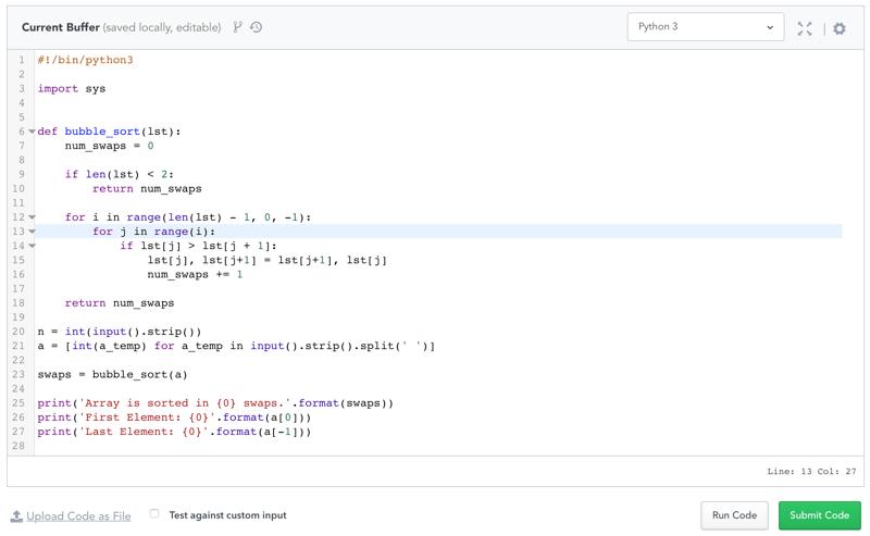 hackerrank 30 days of code