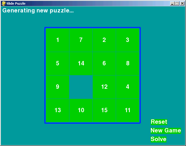 slidepuzzle screenshot