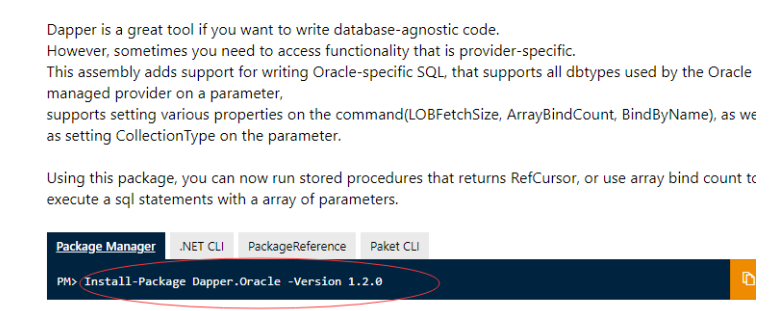 Using Dapper to Operate Oracle Stored Procedures in .NET Core