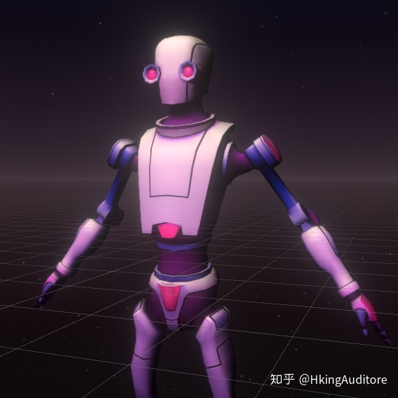 Unity to achieve sci-fi projection effects