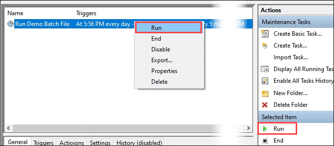 11a sched run test
