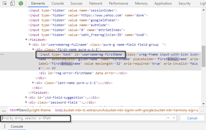 How to find element by XPath